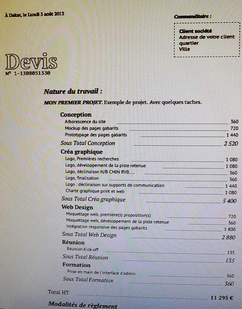 Prévisualisation devis & factures avant impression