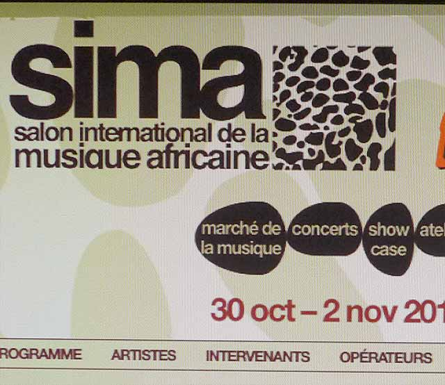 SIMA : Crop de la Home page