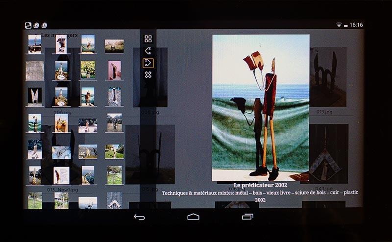 """Galerie photos sur tablette 7"""""""