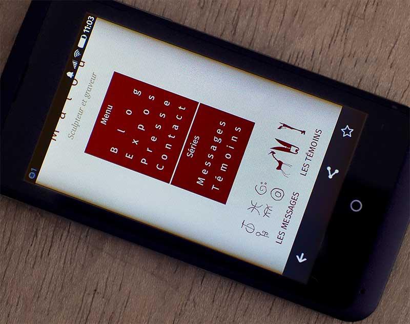 Navigation ouverte sur smartphone